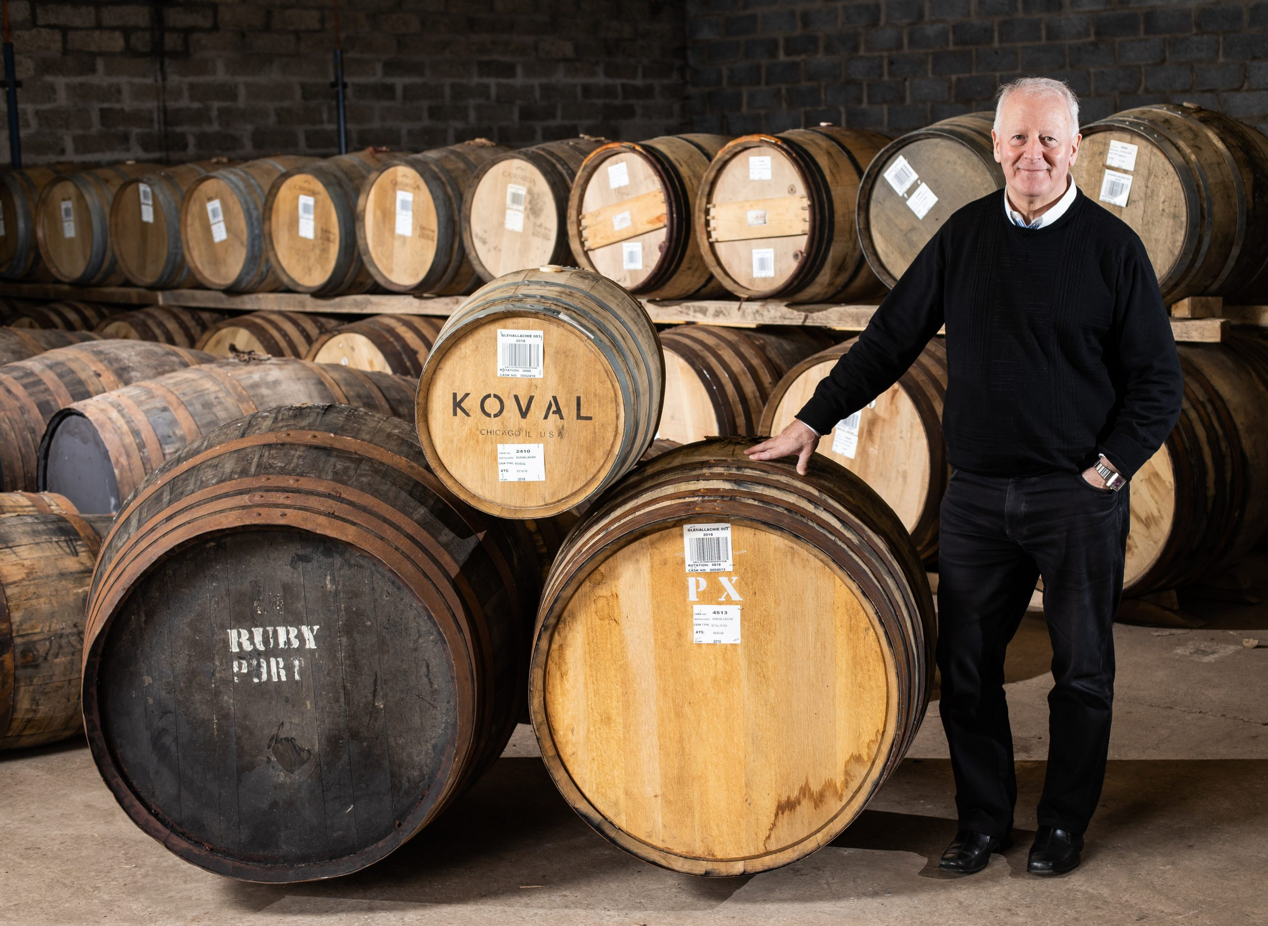 Billy in a GlenAllachie Warehouse