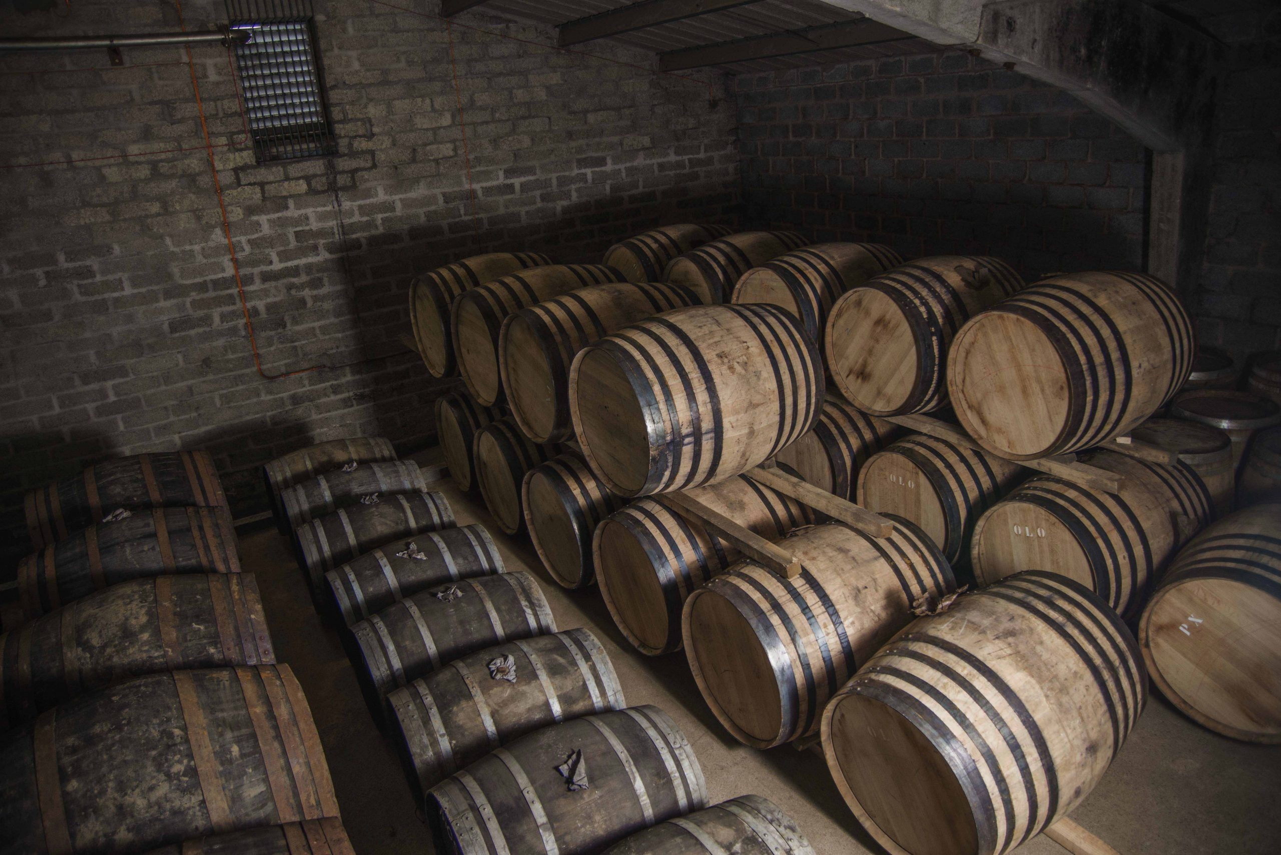 GlenAllachie Casks in Dunnage Warehouse